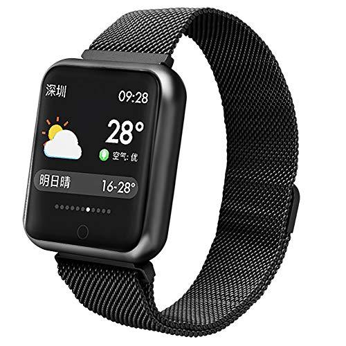 QL Smart Watch, wasserdicht Fitness Tracker Stahlband Farbdisplay Schlaf Analyse, Sport Smart Armband Armband für Kinder/Frauen / Männer