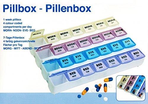 Preisvergleich Produktbild 7 Tage PILLENBOX Pillendose Tablettenbox Medikamentenbox Pillen Dose Box 10