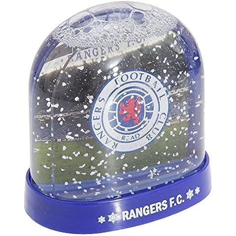 Rangers FC oficial del estadio con el escudo del globo de nieve/cúpula, Clear/Blue, talla única