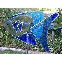 Glas Fisch Hain als Gartendeko Gartenstecker