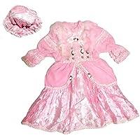 Chenille en satin Rose et satiné Carnaval Costume avec serre-tête Taille. 3e pour une fille 3–4ans (vérifier les dimensions en cm)–Hllw