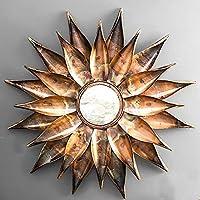 Furnish Craft Steel Glass Wall Mirror (24 x 24 inch, Copper Burn)