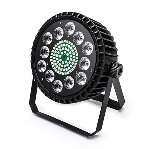 UKing LED Par Licht, [Neue Version] 160W Beleuchtung Strahler Scheinwerfer mit DMX512 Colorful Mixing Lichteffekt für Party Bar Show Wedding Club