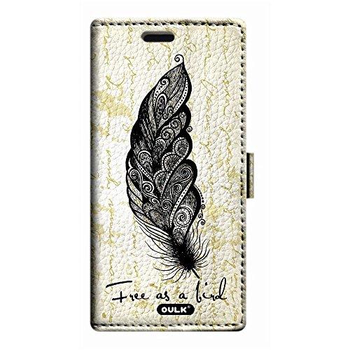 oulk® Apple One Touch Pop 2iPhone 64.7Case Étui portefeuille, en cuir PU Litchi la main Coque avec béquille