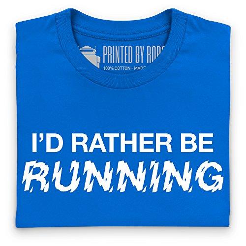 I'd Rather Be Running T-Shirt, Herren Royalblau