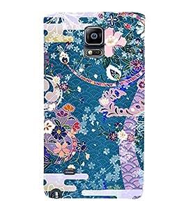 99Sublimation Modern Colourful Flower Design In animation 3D Hard Polycarbonate Back Case Cover for Samsung Galaxy Note 4 :: N910G :: N910F N910K/N910L/N910S N910C N910FD N910FQ N910H N910G N910U N910W8