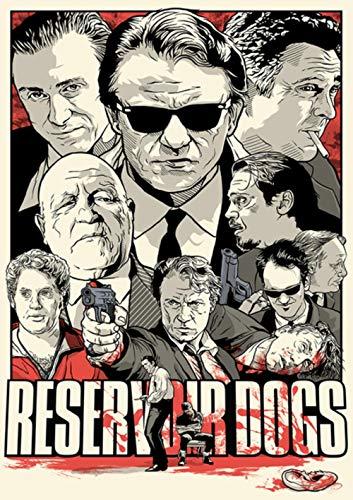 Wandsticker Quentin Tarantino Film-Poster-Qualitäts-Pulp Fiction Kill Bill Home Decoration MO30,Hellgelb,31cmX20cm