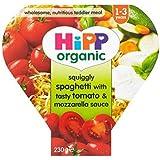 Hipp Ondulées Organique Spaghetti Avec Sauce Tomates Et Savoureuse Mozzarella 1-3 Ans 230G - Lot De 2