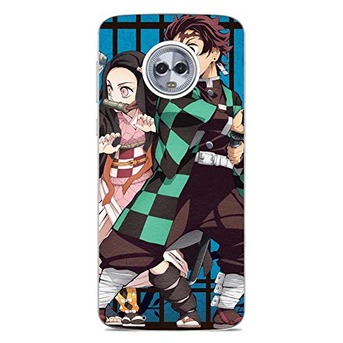 Estared Moto G6 Plus H¨¹lle,Transparent Durchsichtig [Ultra D¨¹nn] Klar Weiche TPU Schutzh¨¹lle for Moto G6 Plus-Demon Slayer: Kimetsu no Yaiba 5