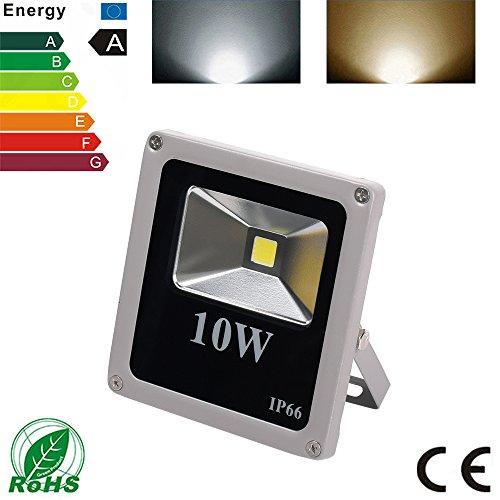 Vander Floodlight LED Flutlicht Scheinwerfer Indoor Lampe Outdoor Spotlight Flood Light Replace 100W Halogen lamp IP66 Waterproof (10W weiß)