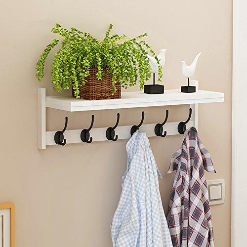 LXLA- Vêtements Rack Hanger mural suspendu vêtements étagère Multifonctionnel Simple Rack de stockage en bois laminé à froid en acier E1 plaque 63,5 × 20 × 22 cm (Couleur : Style2)