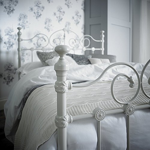 Lawrence Furniture Ltd Victorian Style Kingsize 5ft Cream Metal Bed Frame