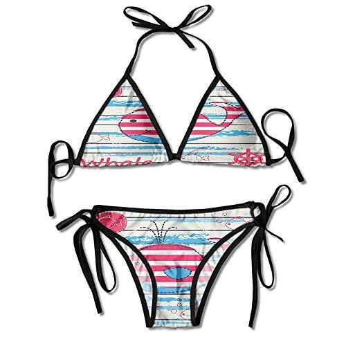 Sailor Boyshorts (Two Pieces Bikini Swimsuit,Fish Sailor Marine World Sexy Bikini 2 Pieces)