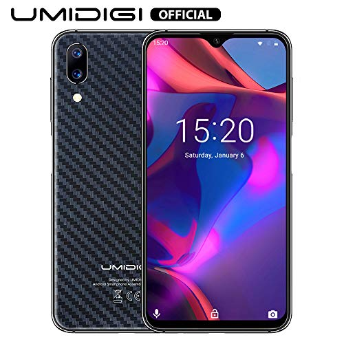 Screen Handy (UMIDIGI One Max Flaggschiff Qi Smartphone ohne Vertrag Android 8.1 Oreo 4GB + 128GB 6.3 Zoll 19:9 Waterdrop Full Screen Handy, Dual SIM, Globale Version, Induktion Laden, NFC, 16MP Kamera - Schwarz)
