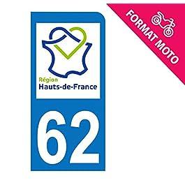 Adesivo Moto hauts-de-france 62–Non di Calais