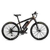 CCDD Mountain Elektro-Fahrrad,26 Zoll 27,5 Zoll 27 Geschwindigkeit Scheibenbremse GRENERGY Lithium-Batterie 36V10AH Hinterradantrieb Mountainbike,Black-orange-27.5 * 15.5in