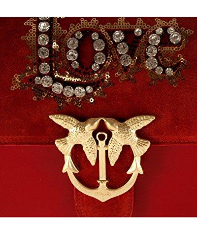Explorar El Precio Barato El Envío Libre Para Agradable PINKO LOVE LEATHER CRYSTAL BORSE A TRACOLLA Donna Rosso Punto De Venta Donde Se Puede Encontrar KXOJ9GpxVj