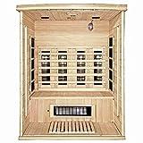 Home Deluxe – Infrarotkabine – Gobi L – Vollspektrumstrahler – Holz: Hemlocktanne - Maße: 153 x 110 x 190 cm – inkl. vielen Extras und komplettem Zubehör - 4