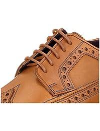 Cordones redondos para zapatos, de 55 Sport, de algodón encerado, color Gris, talla 100 cm