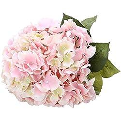 Houda Blumenstrauß, Kunstseide, Hortensien, für Heimdekor oder Hochzeiten. rose