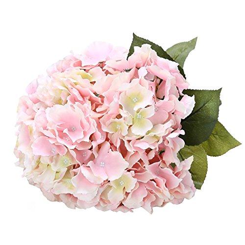 Houda Künstliche Seide Hortensie Blumenstrauß Fake Blumen Arrangement Home Hochzeit Decor