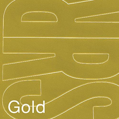 Graphic Produkte Permanent Adhesive Vinyl Buchstaben 694/pkg-Gold - Buchstaben 6-zoll-craft