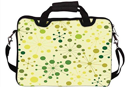 Snoogg grün Kleine Punkte Laptop Netbook Computer Tablet PC Schulter Case mit Sleeve Tasche Halter für Apple iPad/HP TouchPad Mini 210/Acer Aspire One und die meisten 24,6cm 25,4cm 25,7cm 25,9cm Zoll Netbook Tablet PC