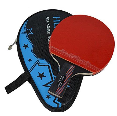 Carbon Fiber Tischtennis Racket Blade Double Face Pickel-in Racket Gummi Tischtennis Bat mit Tasche Top Empfohlen (kurz(short))
