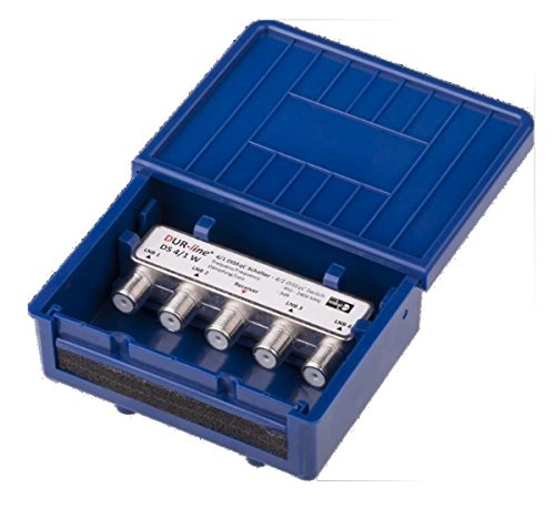 Dur-Line Multischalter Type 4 IN/1 OUT DiSEqC-Schalter 4/1 mit Wetterschutz