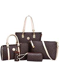 Coofit Frauen Geldbörsen Handtaschen Damen Crossbody Tasche Messenger Bag Tasche 6 Sets