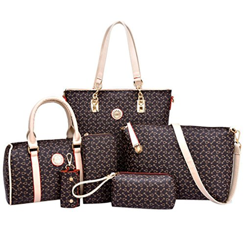 Preisvergleich Produktbild Coofit Damen Leder Handtaschen Umhängetasche Schultertasche Schulter Hobo Set