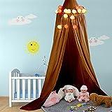 Dome aufgehoben in Kuppel rund Fliegengitter für Traum Fantasy für Baby Kinder Vorhang-Schlafsack, Zubehör, inkl. Einbau