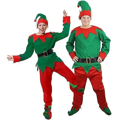 ELF COSTUME CHRISTMAS FANCY DRESS CHEEKY ELF TOP + TROUSERS + BELT + HAT + DELUXE POM POM ELF SHOES XXLARGE  sc 1 st  Amazon UK & XXL Fancy Dress: Amazon.co.uk