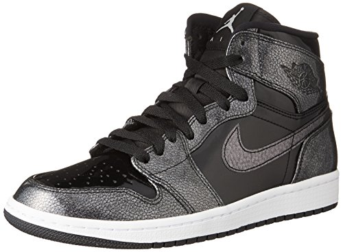 Nike Air Jordan 1 Retro High 332550-017 Herren Turnschuhe, Black (Schwarz / Schwarz / Weiß), 47.5 EU (Jordan High Retro 1 Air 332550)