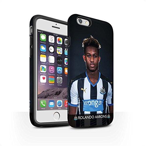 Officiel Newcastle United FC Coque / Matte Robuste Antichoc Etui pour Apple iPhone 6 / Pack 25pcs Design / NUFC Joueur Football 15/16 Collection Aarons