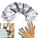 Nagellackentferner Mit Schwamm Aluminium folie Nail Wraps Remover, Hilfsmittel zum Einfachen Entfernen von UV-Lack oder Nagellack Phototherapie,Einweg-Maniküre-Werkzeug 100 Stück