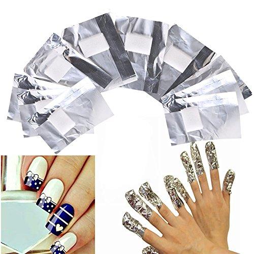 100 pezzi Nail Art Remover Wraps Uv Gel Polish Remover Foil Wraps