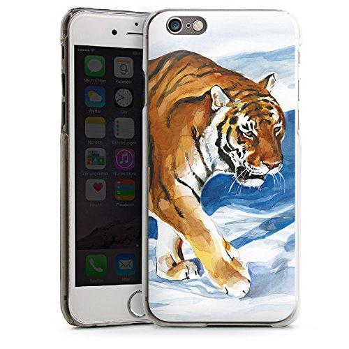 Apple iPhone 5s Housse Étui Protection Coque Neige Art CasDur transparent