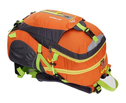 SHENJIE 2017 Neue Outdoor-Sport-Bergsteigen Rucksack Leichtgewicht Wandern Tasche Freizeit Rucksack Wasserdichte Klettertasche Rot Orange