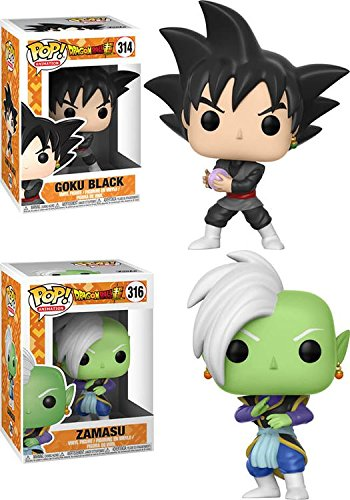 Funko POP! Dragonball Super: Goku Black + Zamasu - Stylized Anime Vinyl Figure Set NEW