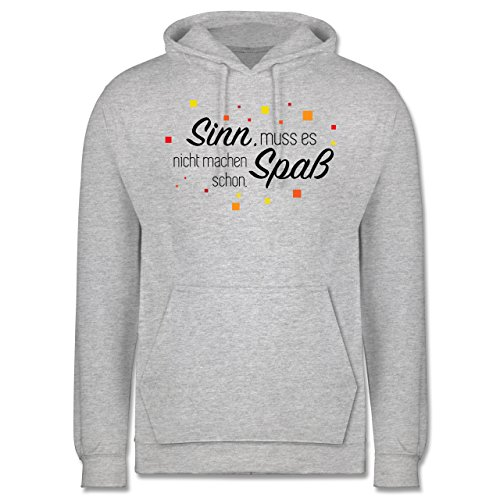 Statement Shirts - Sinn muss es nicht machen, Spaß schon - Männer Premium Kapuzenpullover / Hoodie Grau Meliert