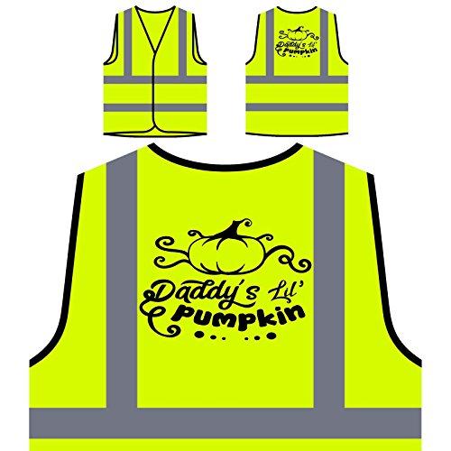 Daddys Lil Kürbis Personalisierte High Visibility Gelbe Sicherheitsjacke Weste (Lil'kürbis)