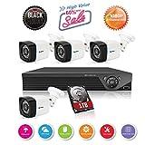 Anni caméras CCTV système 8CH 1080p HD TVI 5-en-1 DVR Kit, 4X 720p caméras extérieures étanches, 25m Vision de Nuit, détection de Mouvement Smart Recording, Alarme e-Mail, Sauvegarde USB, 1TB HDD