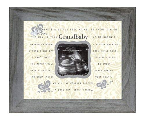 The Grandparent Gift Co. Gedicht Gedicht 20,3 x 25,4 cm Distressed Grau Bilderrahmen, Hält 7,6 cm Foto