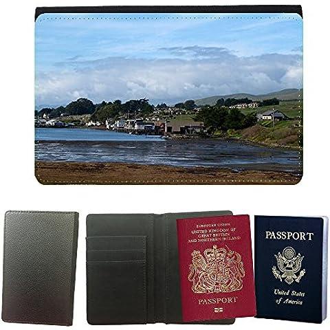 hello-mobile Cubierta del pasaporte de impresión de rayas // M00137304 Bodega Bay Bird Passeggiata Harbor // Universal passport leather cover
