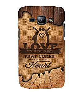 Love Comes From Heart 3D Hard Polycarbonate Designer Back Case Cover for Samsung Galaxy J1 :: Samsung Galaxy J1 J100F (2015)
