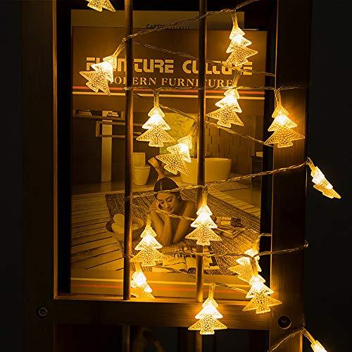 etten (40 LED 3 Modi) Solarlichterkette, 4m Kupferdraht Lichterketten, Verstellbarer Schalter, tragbar für Terrasse, Garten, Zuhause, Hochzeit, Weg, Party (warmes Licht) ()