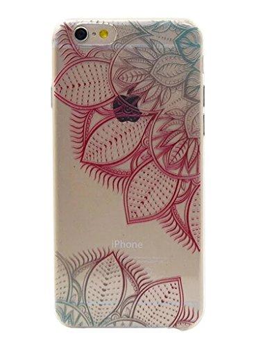 Cover trasparente nnopbeclik® Silicone trasparente Glitter per iPhone 6Plus 6S Plus Case, Cover ultra slim soft TPU lusso stampa bello, motivo floreale lucido cristallo animali protective parte super Blume E