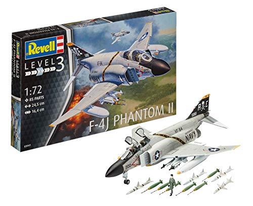 Revell Maqueta de avión 1: 72–F de 4J Phantom II en Escala 1: 72, Nivel 3, réplica exacta con Muchos Detalles, 03941