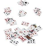 52 tlg. Set - Spielekarten - Miniatur / Maßstab 1:12 - Puppenstube / Puppenhaus - Skatkarten - französisches Blatt - Kreuz Pik Herz Karo - Karten Spielkarten - Romme Bridge Canasta - Poker Pokerspiel Skat / Doppelkopf - Pokerkarten - Skatkarte - Diorama